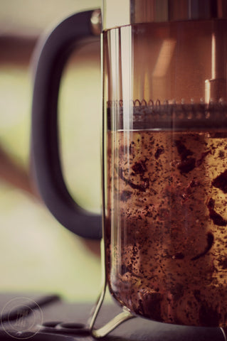 How to steep tea in a french press | Turmeric Teas