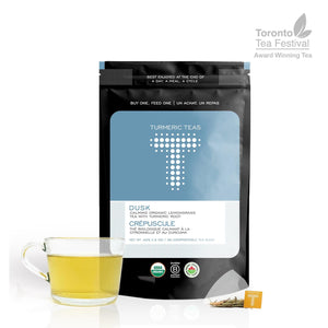 Load image into Gallery viewer, DUSK | Calming Organic Turmeric Lemongrass Tea
