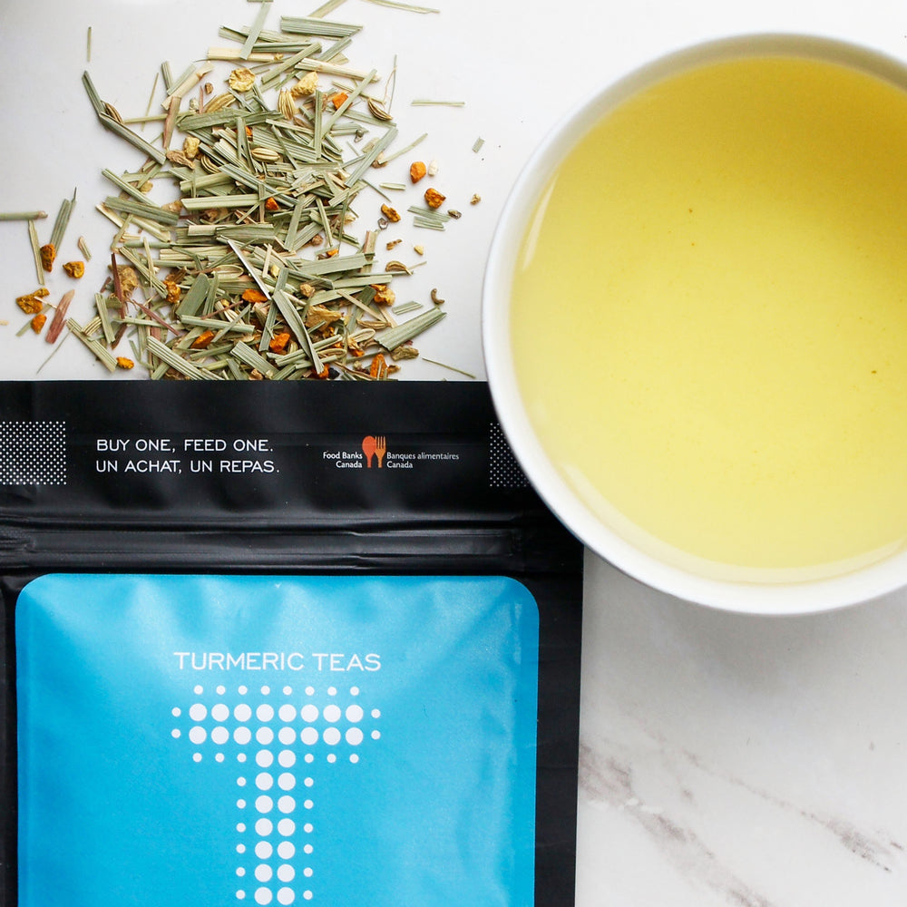 Load image into Gallery viewer, Turmeric Teas - Dusk Loose Leaf Lemongrass Tea.