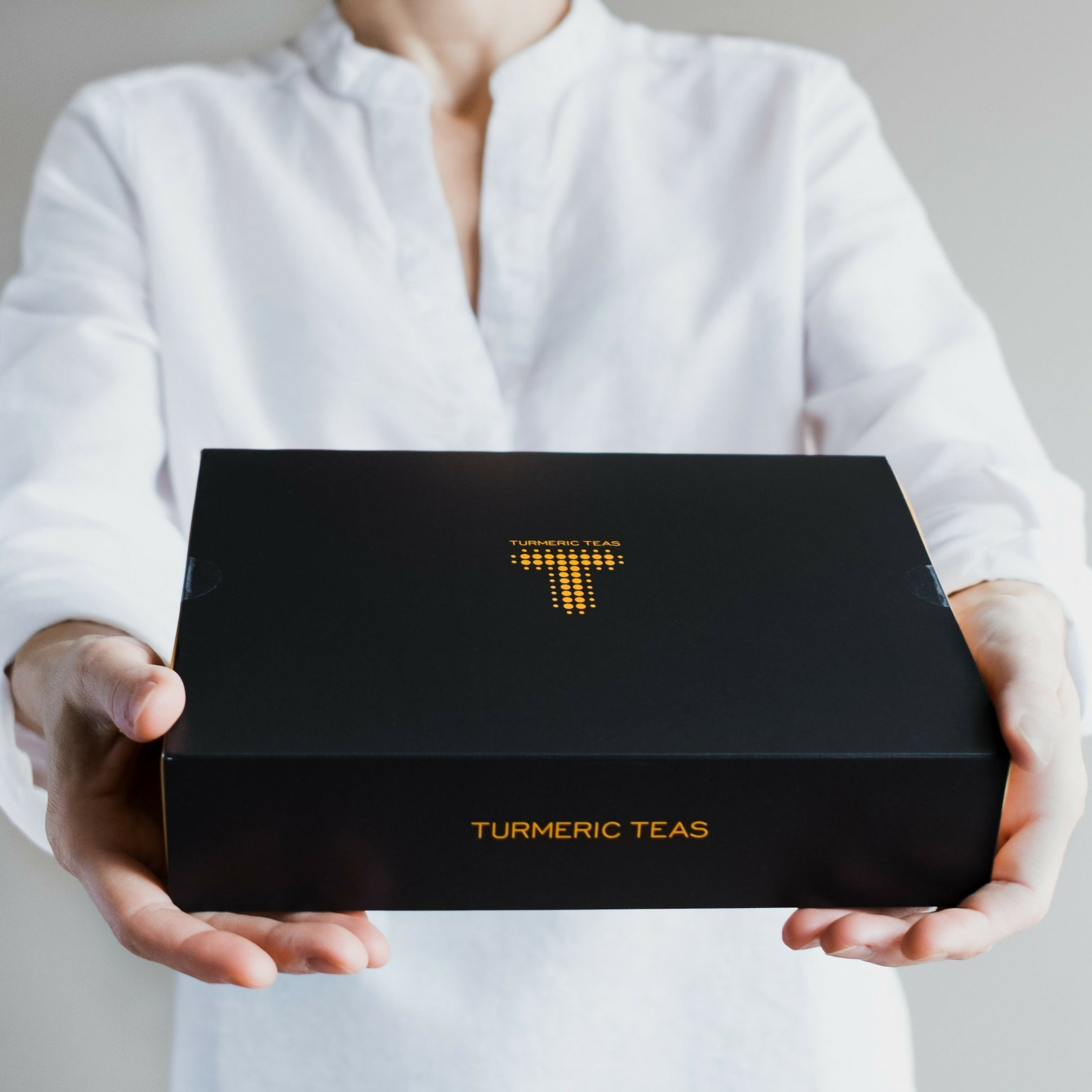 Turmeric Teas GIFT BOX - The Gift of Balance | Our complete loose-leaf collection of teas is available in an attractive gift box | Organic loose leaf turmeric tea