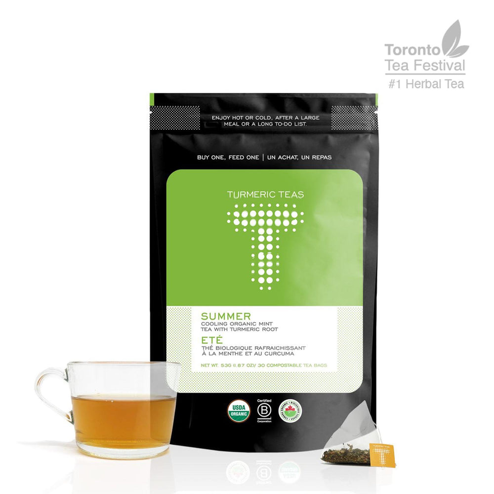 SUMMER | Cooling Organic Turmeric Peppermint Tea