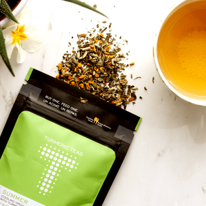 Load image into Gallery viewer, Turmeric Teas - Summer Loose Leaf Peppermint Tea.