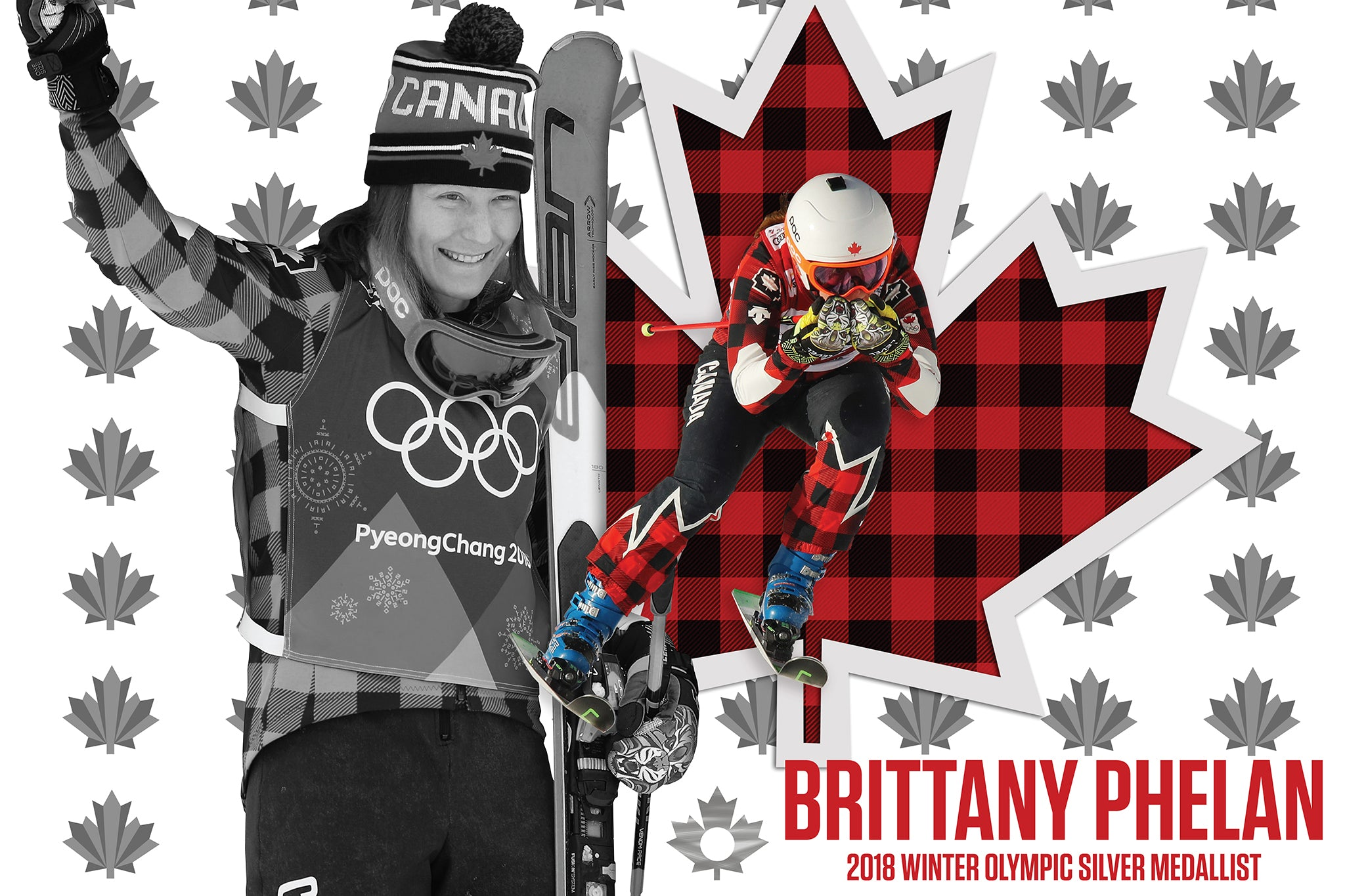 Signed Brittany Phelan Olympic Poster · Affiche Olympique autographiée par Brittany Phelan