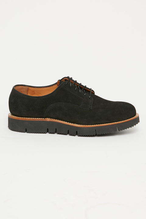 Viberg Derby Shoe Black Calf Suede - Totem Brand Co. Exclusive - Totem Brand Co.