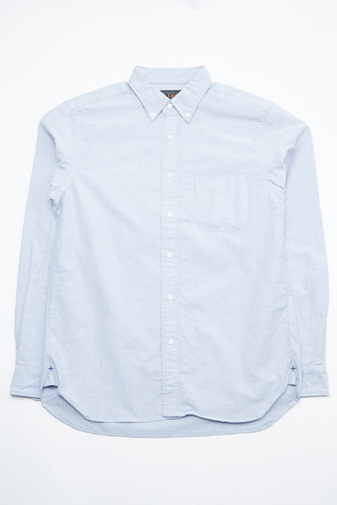 Beams Plus B.D. Oxford - Blue