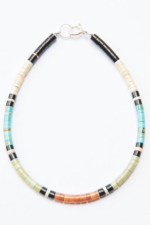 Multicolor Heishi Bracelet by Gerard & Mary Calabaza - 8""
