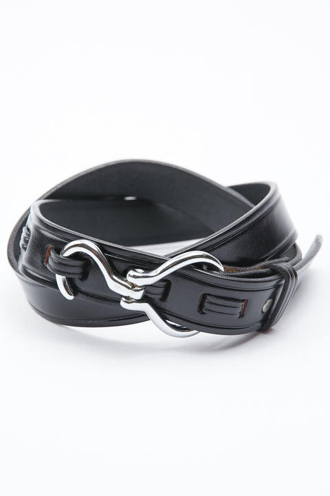 Tory Leather Hoof Pick Belt - Black/Nickel (2280)
