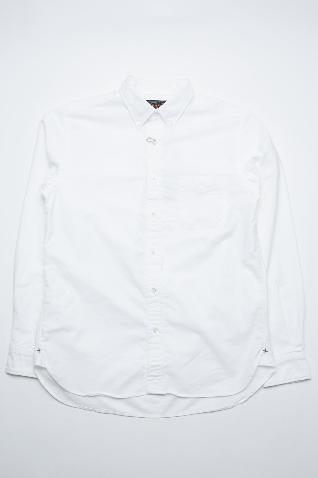 Beams Plus B.D. Oxford - White
