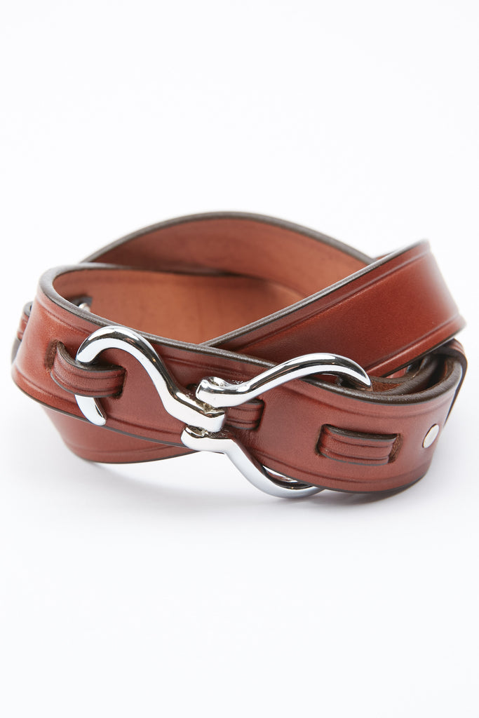 Tory Leather Hoof Pick Belt - Oak/Nickel (2282)