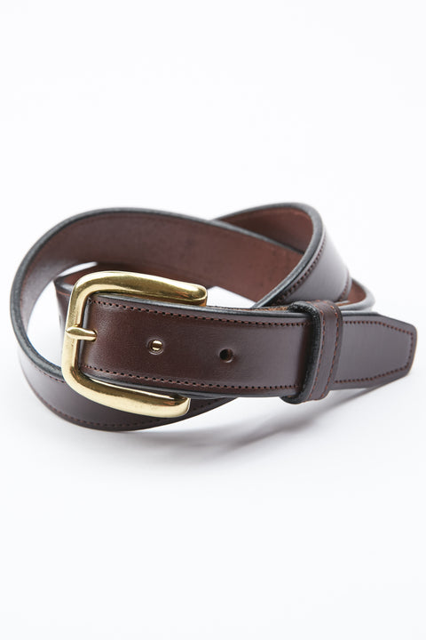 Tory Leather Stitched Belt - Havana (2259)