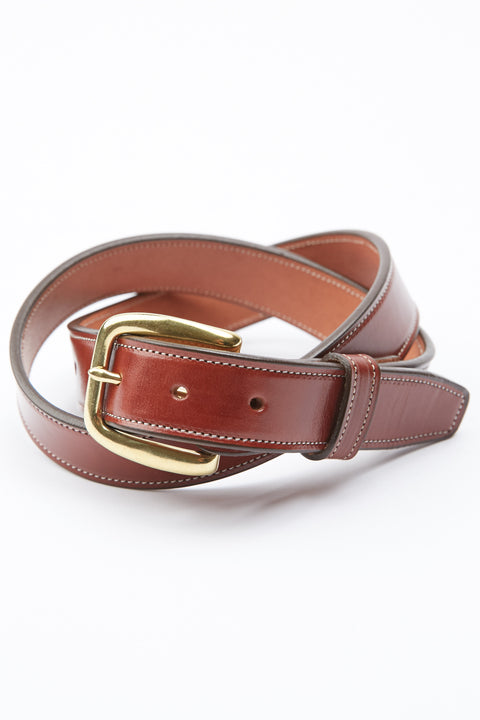 Tory Leather Stitched Belt - Oakbark (2257)