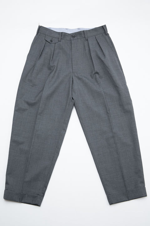 Beams Plus 2Pleats Wool Tropical - GREY