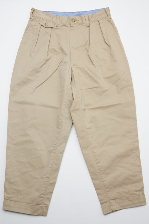 Beams Plus 2Pleats Chino - Khaki