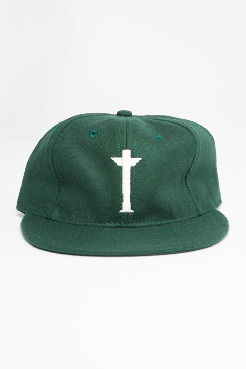 TOTEM BRAND CO. CAP - ADJUSTABLE - GREEN WOOL - EXCLUSIVE - Totem Brand Co.