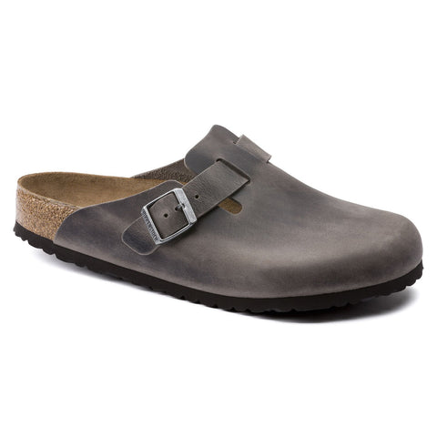 Birkenstock Boston - Oiled Leather - Iron