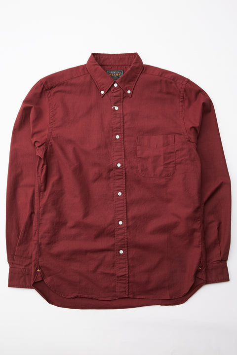 Beams Plus B.D. Color Oxford Shirt - BURGUNDY