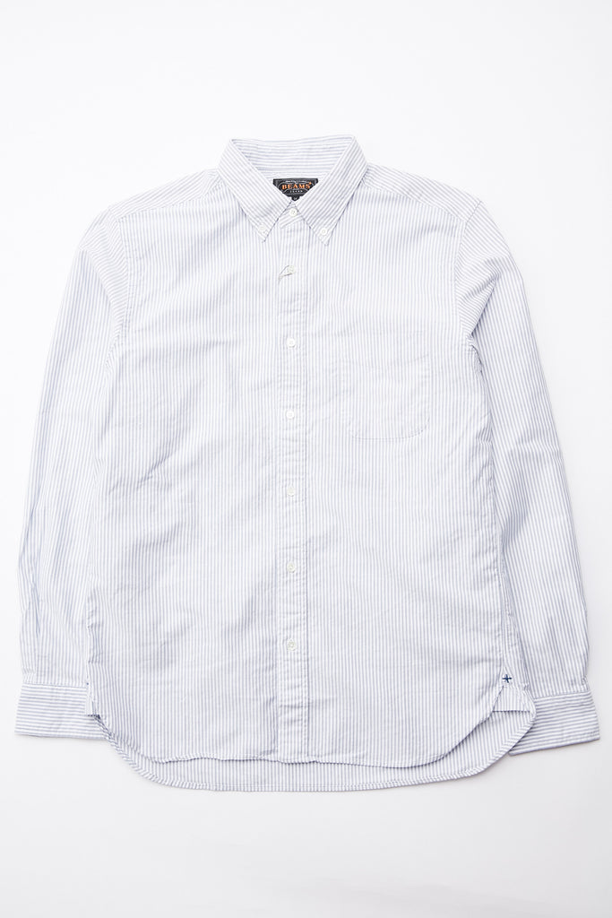 Beams Plus B.D. Oxford Candy Stripe - BLUE