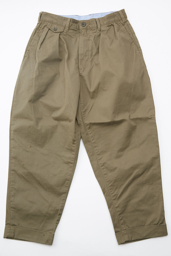 Beams Plus 2Pleats Chino - Olive