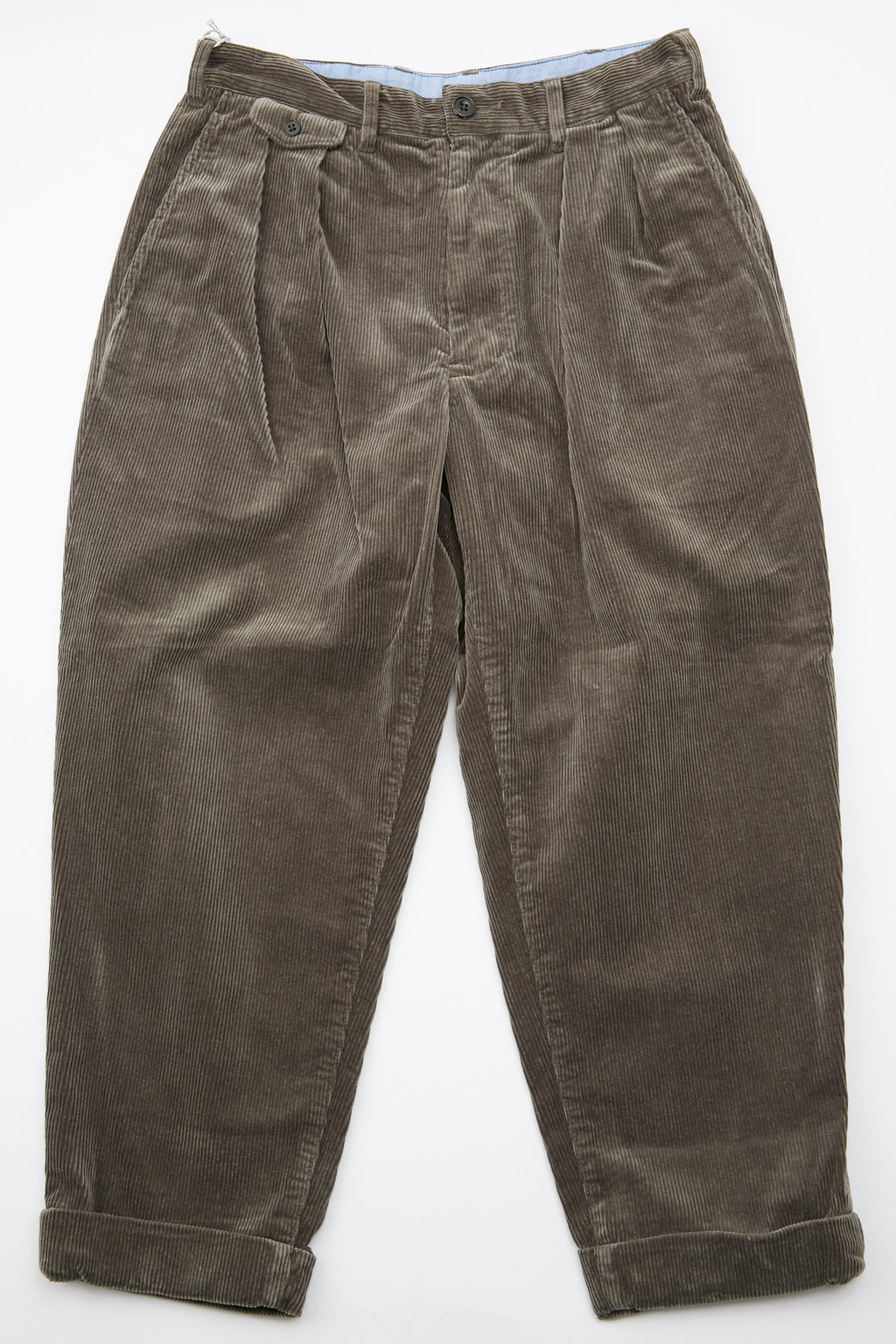 Beams Plus 2Pleats Corduroy Pant - Dark Green