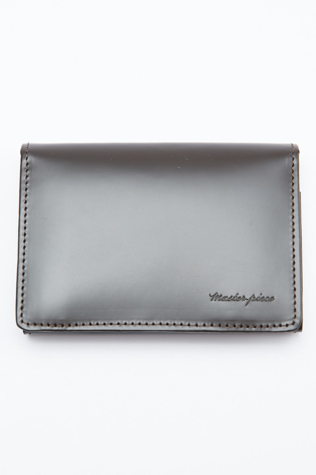 Master-Piece Plain Version 2 Card Holder - Choco Waxed Glass Steer Leather