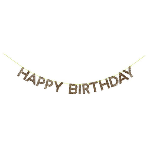 Meri Meri Gold Happy Birthday Garland - Totem Brand Co.