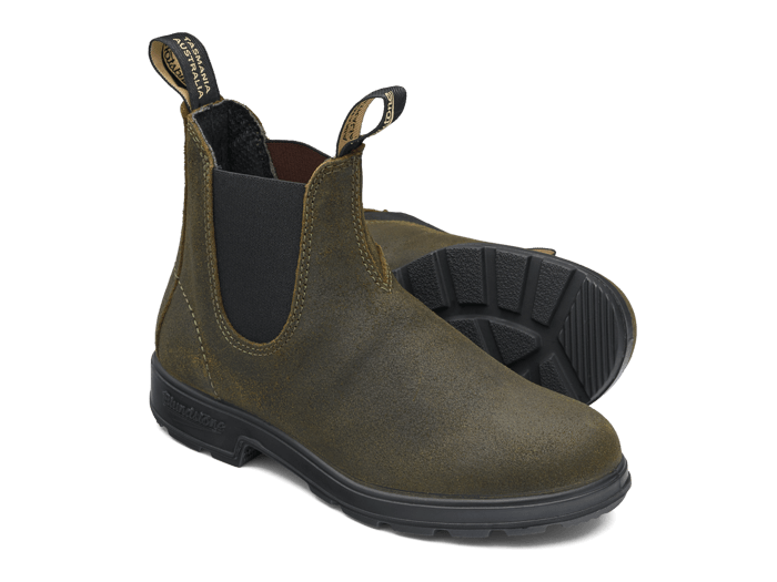 Blundstone Women's 1615 Elastic Sided Suede Boot - Dark Olive