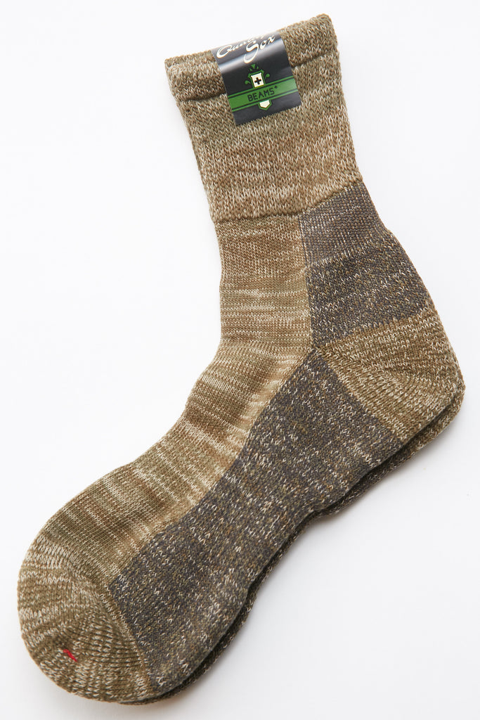 Beams Plus Outdoor Socks - GREEN