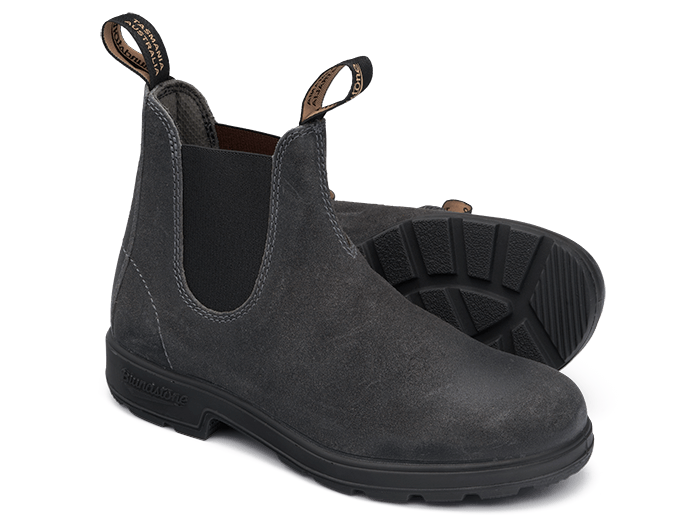 Blundstone 1910 Leather Pull-On Boots - Steel Grey Suede