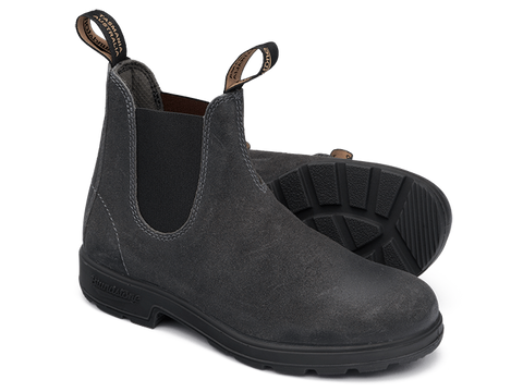 Blundstone Men's 1910 Leather Pull-On Boots - Steel Grey Suede
