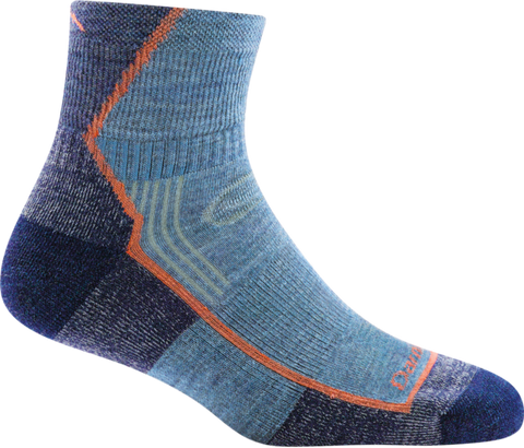 Darn Tough Women's Hiker 1/4 Sock Cushion - Denim