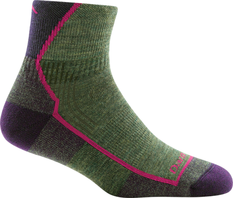 Darn Tough Women's Hiker 1/4 Sock Cushion - Moss Heather
