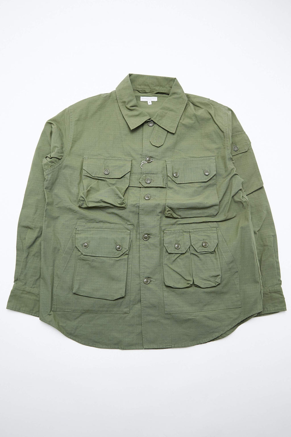 Engineered Garments Explorer Shirt Jacket - Olive Cotton Ripstop