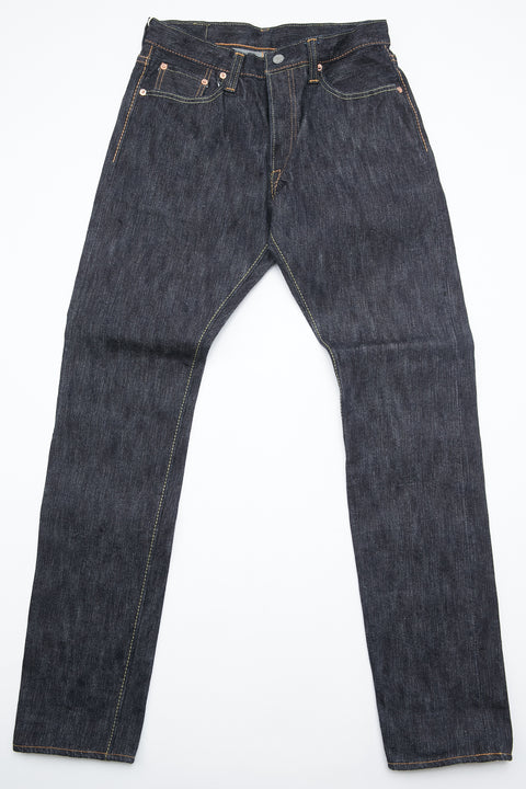 Pure Blue Japan EX-019 - Men's Woven Jeans 17.5oz EX Slub Denim Relaxed Tapered with One Wash - Indigo