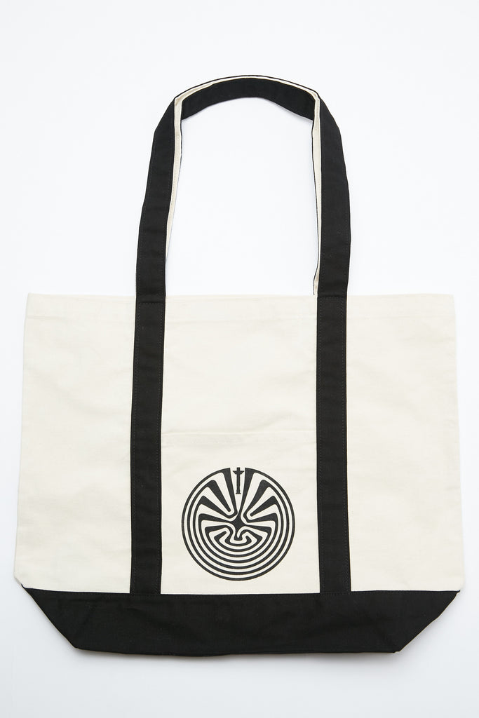 "Totem Brand Co. ""Totem in the Maze"" Carry All Boat Tote Bag - Black"