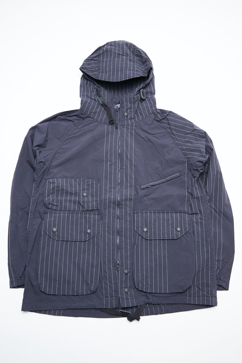 Engineered Garments Atlantic Parka - Dk. Navy Nyco Gangster Stripe