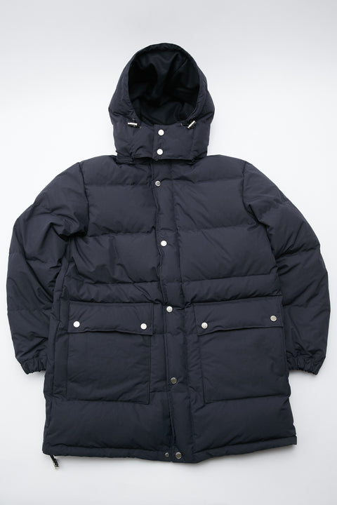 Danton White Goose Down Coat - Navy