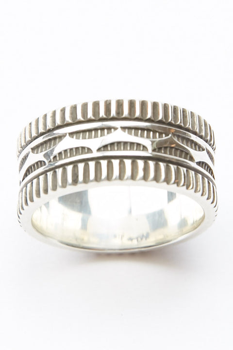 Sterling Silver Ring by Lyle Secatero - Endurance & Tranquility Ring