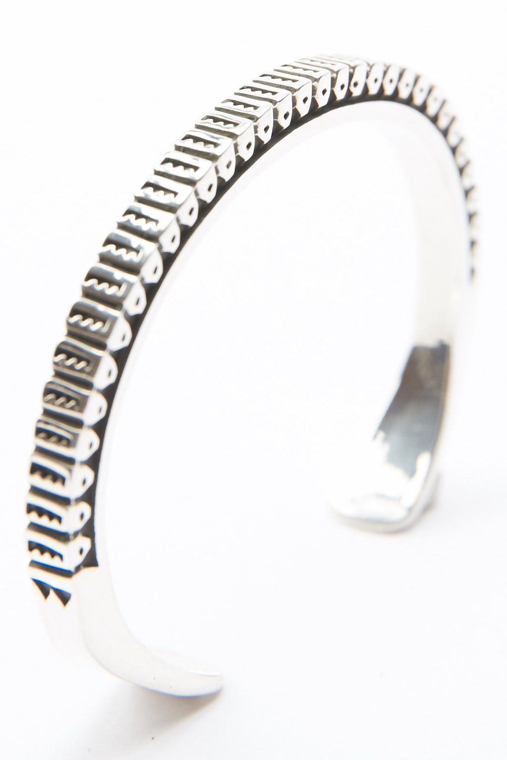 Sterling Silver Square Cuff by Lyle Secatero - Protection Cuff