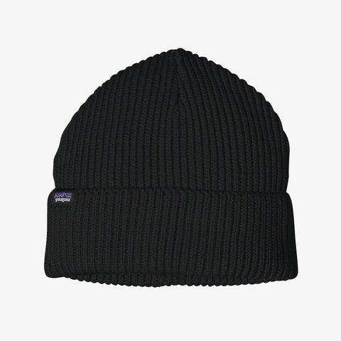 Patagonia Fisherman's Rolled Beanie - Black - Totem Brand Co.