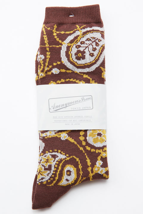 Anonymous Ism Paisley Crew - Brown
