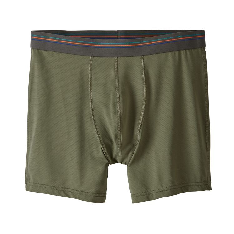 "Patagonia Men's Sender Boxer Briefs - 6"" - Industrial Green"