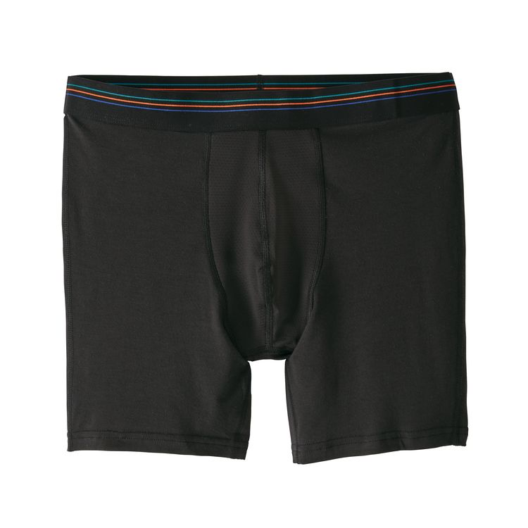 "Patagonia Men's Essential A/C® Boxer Briefs - 6"" - Black"