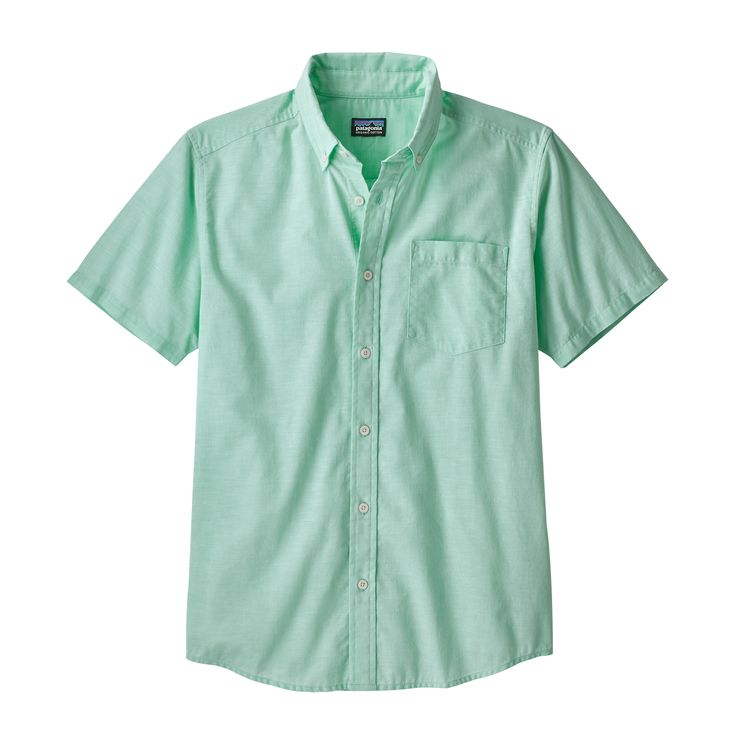 Patagonia Men's Lightweight Bluffside Shirt - Chambray: Vjosa Green