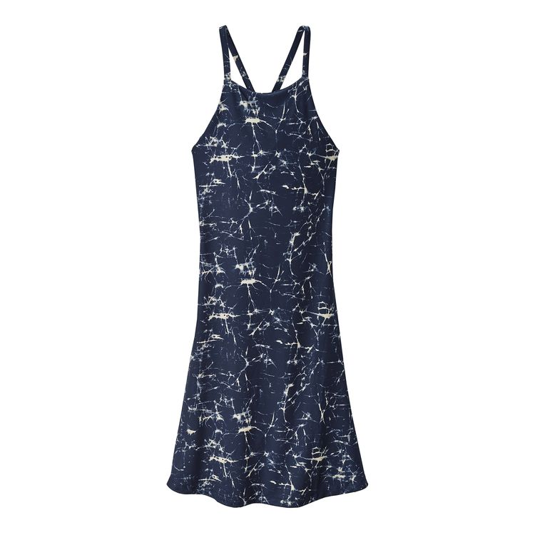 Patagonia Women's Sliding Rock Jersey Dress (Crackle: Classic Navy) - Totem Brand Co.