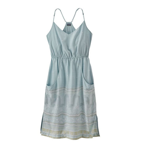 Patagonia Women's Lost Wildflower Dress - Forest Song: Atoll Blue