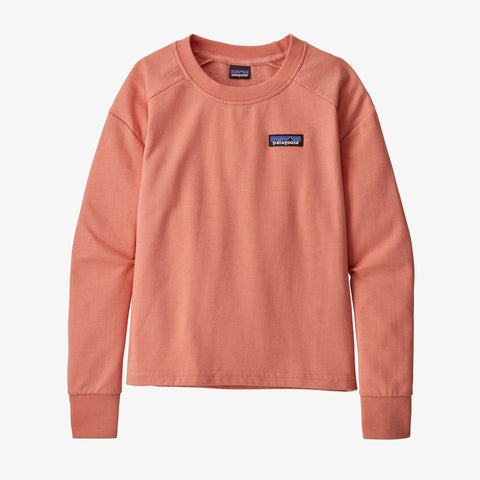 Patagonia Girls' Lightweight Crew Sweatshirt - P-6 Label: Mellow Melon