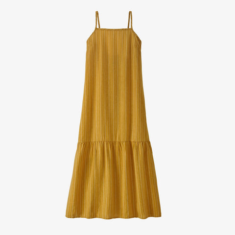 Patagonia Women's Garden Island Tiered Dress - Bayshore: Hawk Gold