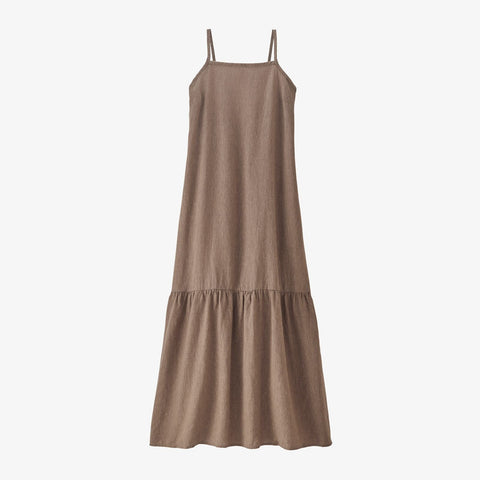 Patagonia Women's Garden Island Tiered Dress - Crossweave: Pampas Tan