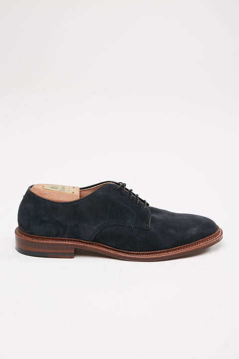 Alden Plain Toe Blucher Navy Suede #29331F - Totem Brand Co.