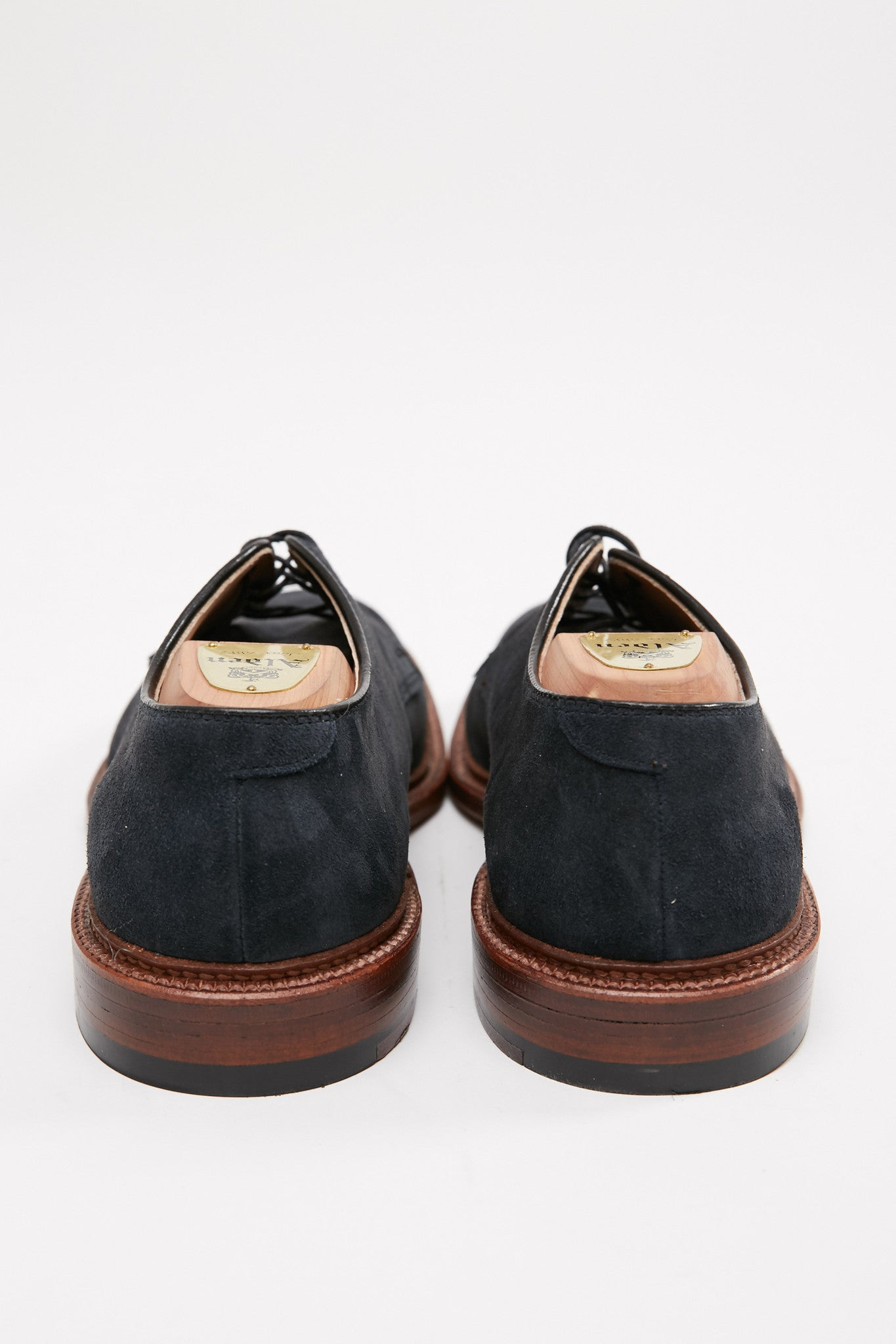 Alden Plain Toe Blucher Navy Suede #29331F